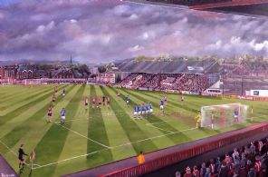 Exeter City - Last Game of  The Old Grandstand -20'' x 30'' approx poster print